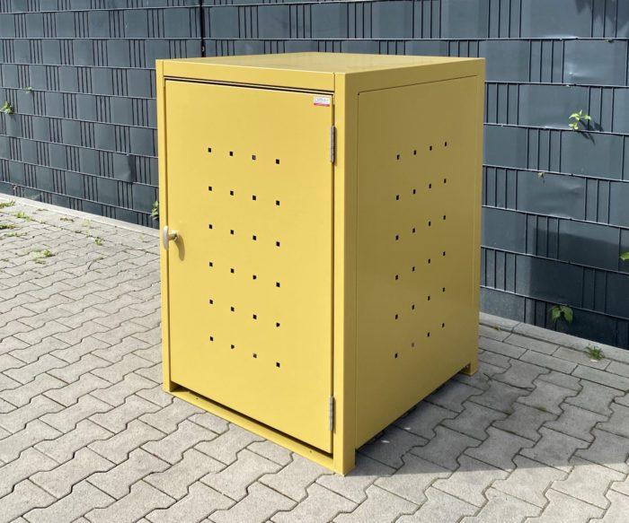 1er Mülltonnenbox – gelb