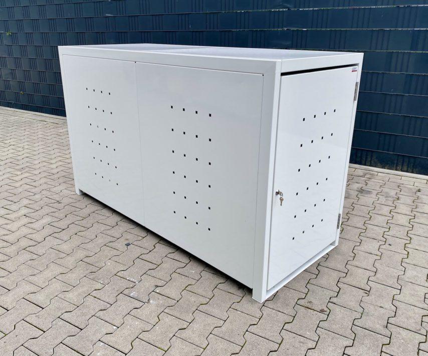 1er Fahrradbox weiß