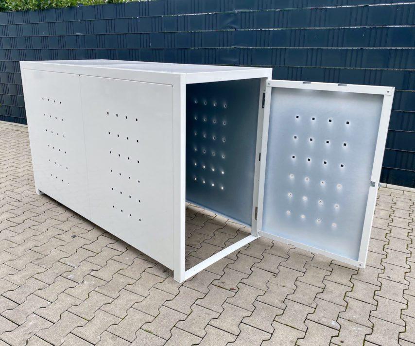 1er Fahrradbox weiß offen