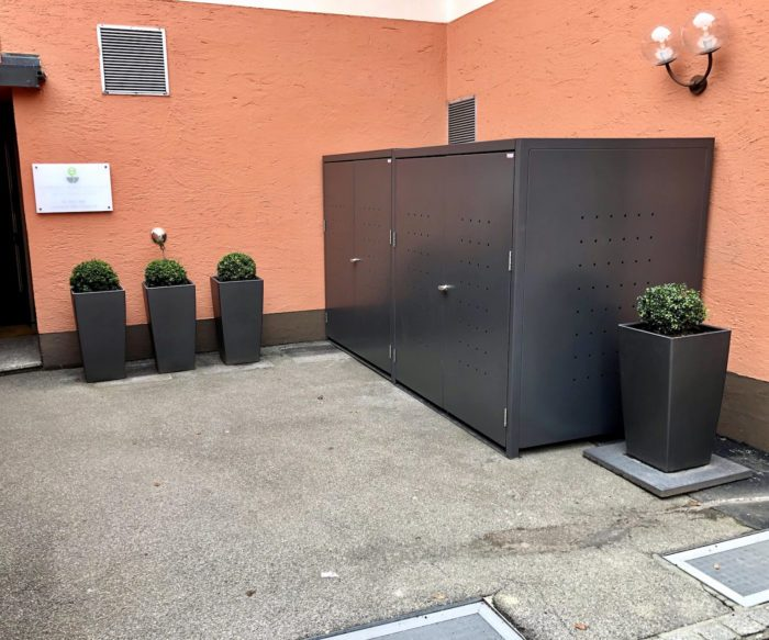 2er Müllcontainerbox anthrazit