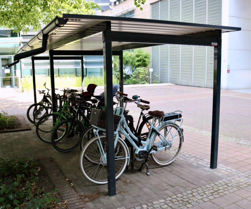 Fahrradüberdachung ohne Wände