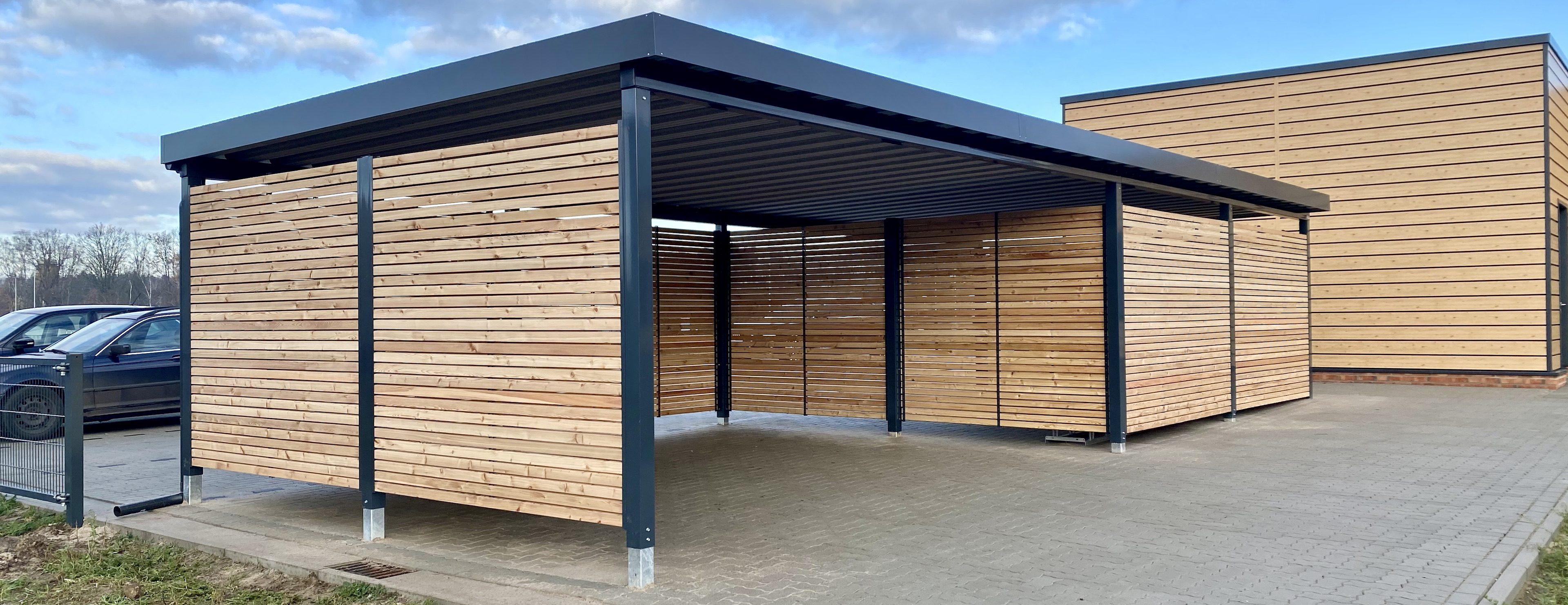 Lieken Metall Design – Carports, Mülltonnenboxen und mehr – Kubus Design Carport