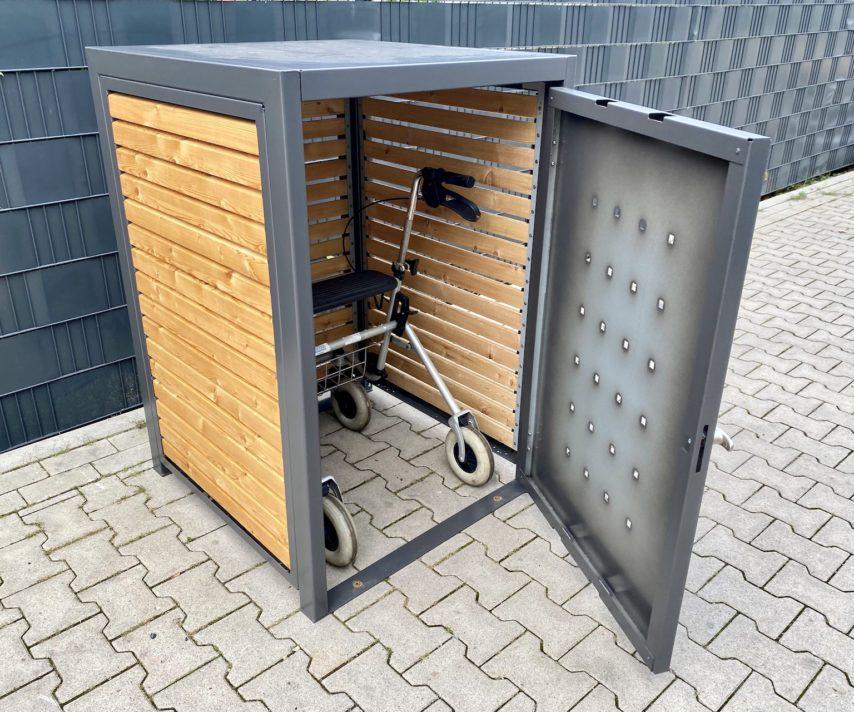 Rollatorbox Lärchenholz anthrazit 02