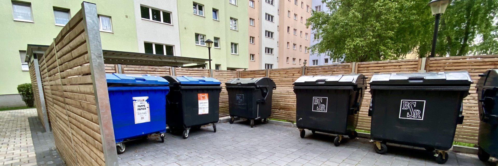 Sichtschutz für Mülltonnen