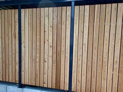 Carports und Fahrradüberdachungen – Holzlattung senkrecht