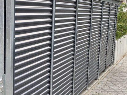 Carports und Fahrradüberdachungen – Seitenwand Stahlwelle